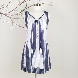 EUC Cynthia Rowley | Aztec Linen Slip Dress, 2